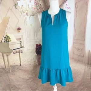 Charles Henry Turquoise Flare Bottom Dress